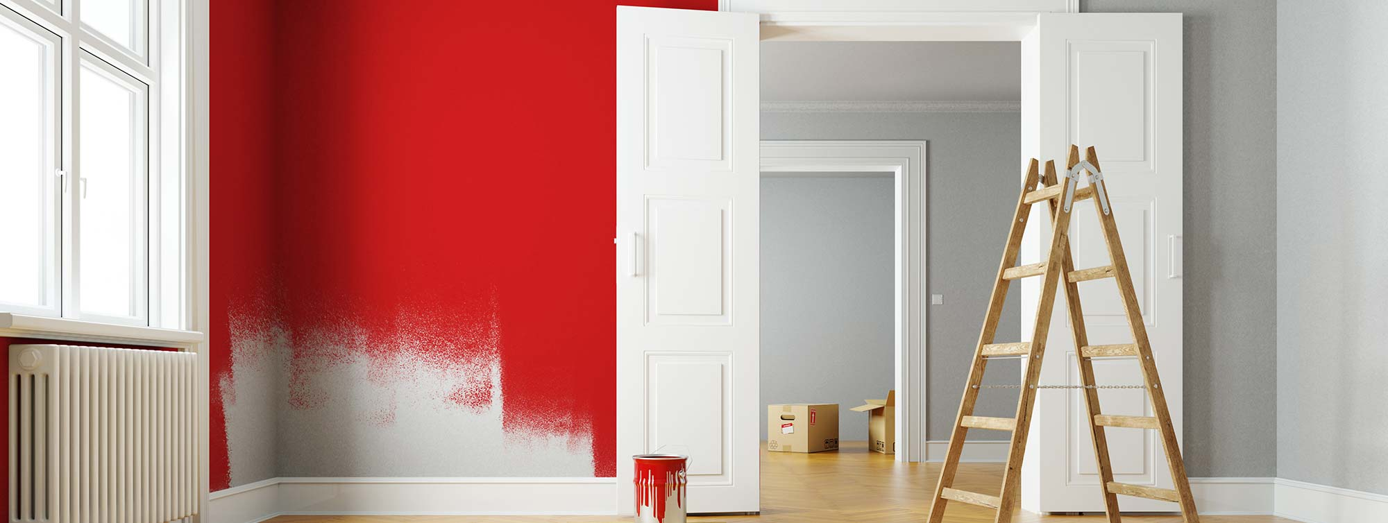 Red Paint on Walls